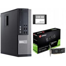 PC DLA GRACZA DELL 7010 i5 8GB GTX 1650 120SSD W10