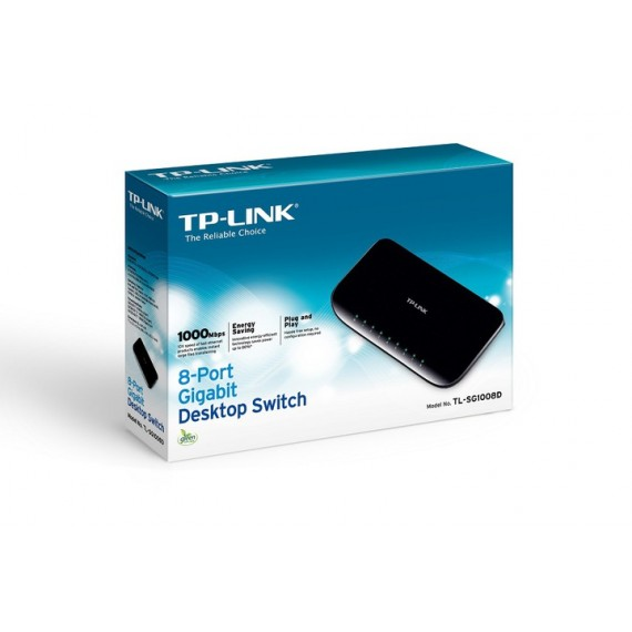 NOWY SWITCH TP-LINK TL-SG1008D 8X 1Gb 1000Mb/s FV