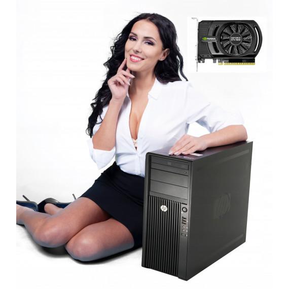 DLA GRACZA HP Z420 E5-1620 8GB 250GB GTX1050TI 10P