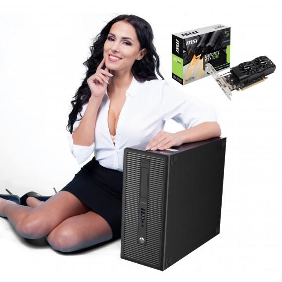 DLA GRACZA HP 600 G1 TOWER i3-4130 4GB 120GB SSD GTX1050 W10P